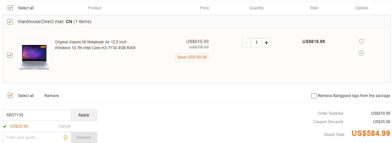 Xiaomi Mi Notebook Air 12.5 deal