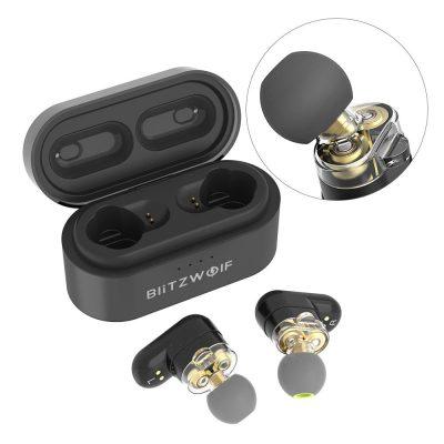 Blitzwolf® BW-FYE7 TWS bluetooth 5.0 Earphone Heavy Bass Stereo Bilateral Calls Headphone with Charging Box