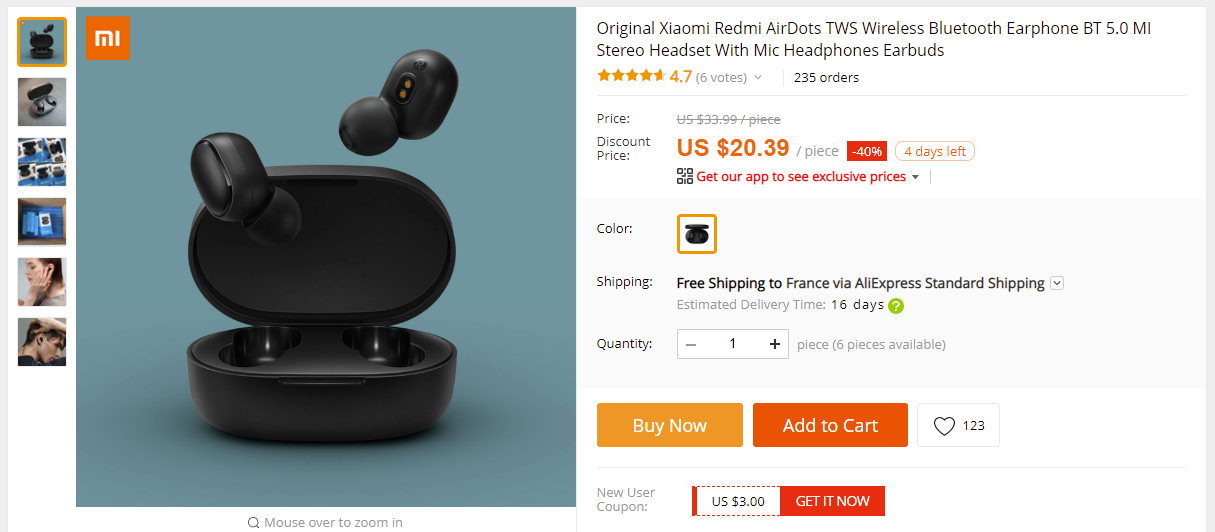 Xiaomi Redmi Airdots Tws Bluetooth 5 0 Earbuds For 20 39 Aliexpress Chinapricer Com