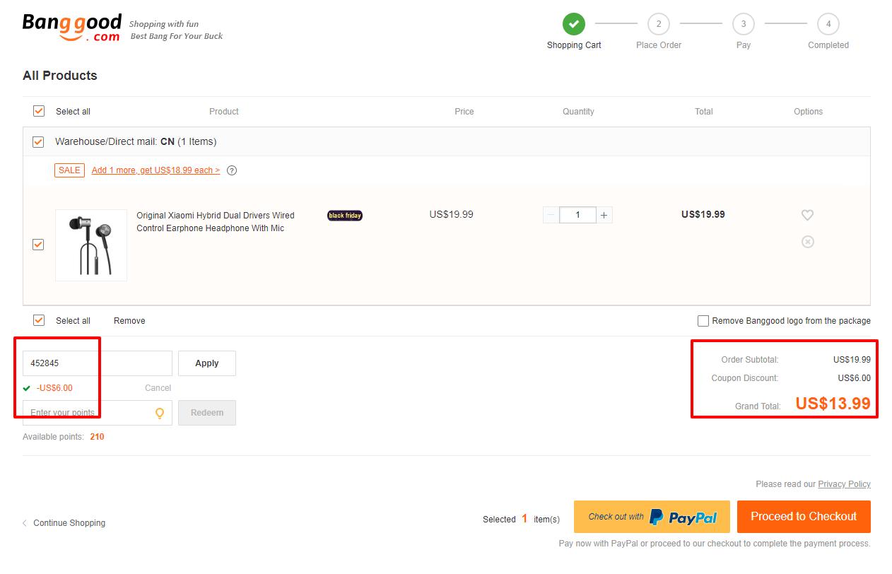 Xiaomi Hybrid Earphone coupon code