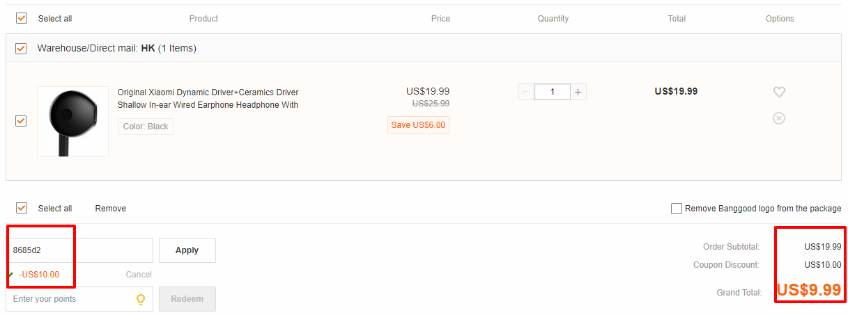 Xiaomi Dynamic Driver+Ceramics Driver Earphone With Mic coupon