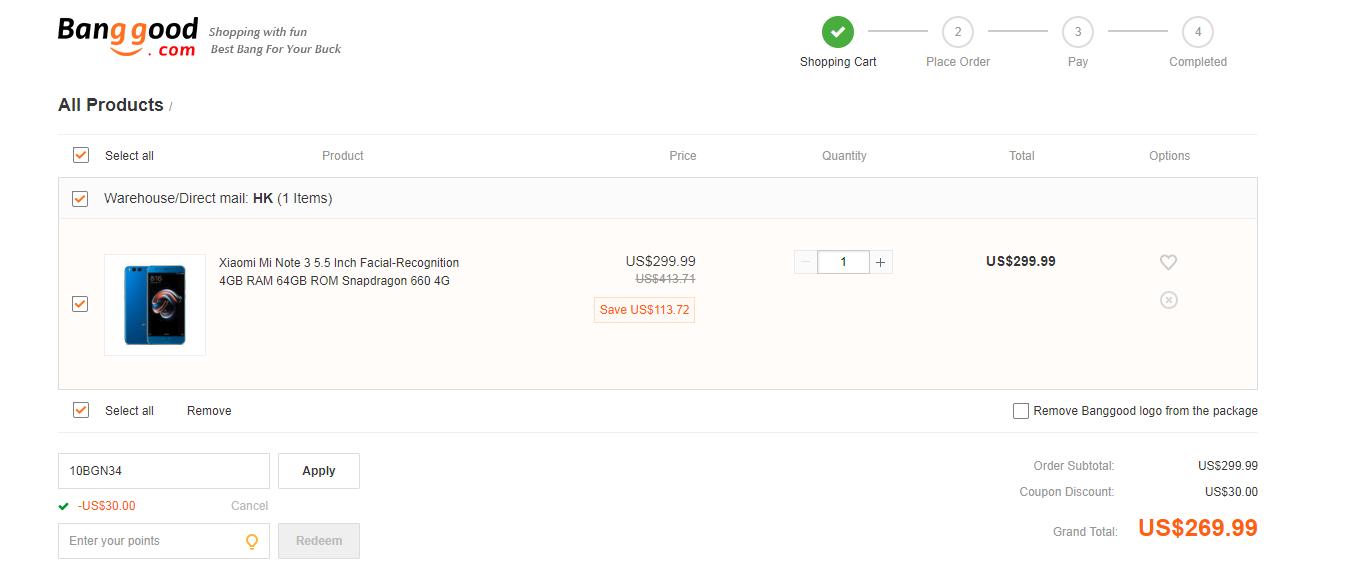 Xiaomi mi note 3 banggood coupon
