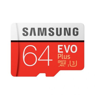 Samsung EVO PLUS 64GB MicroSDXC Class 10 USH-I U3 Memory Card Up to 100MB/s