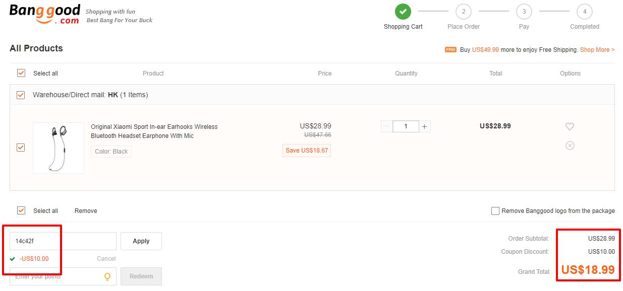 Xiaomi Mini Bluetooth Sports Earbuds coupon